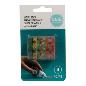 Kit-Fita-Adesiva-Washi-Tape-Floral-We-R-Memory-Keepers-com-4-Pecas-–-Bright-Floral-Washi-Tapes-WER397-–-660679