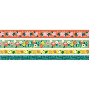 Kit-Fita-Adesiva-Washi-Tape-Floral-We-R-Memory-Keepers-com-4-Pecas-–-Bright-Floral-Washi-Tapes-WER397-–-660679-1