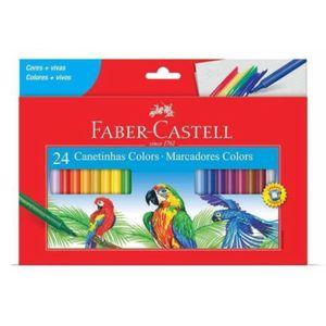 Canetinhas-Hidrograficas-Colors-Faber-Castell-com-24-Cores---Marcadores-Colors-15.0124CZF