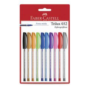 Kit-de-Canetas-Esferograficas-1.0-MM-Trilux-032-Faber-Castell-com-10-Unidades-SM-032ESC10