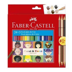 Lapis-de-Cor-Caras-e-Cores-24-Cores---6-Tons-De-Pele-Faber-Castell-–-120124CC