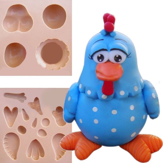 Molde-de-Silicone-para-Biscuit-Casa-da-Arte---Modelo-Colecao-Galinha-Pintadinha-1115