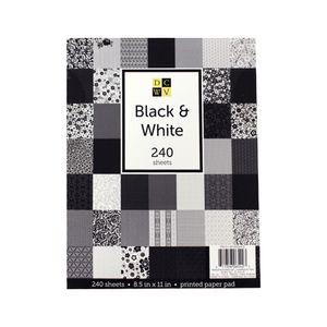 Bloco-de-Papel-para-Scrapbook-Black---White-DCWV-240-Folhas-PS-016-00043
