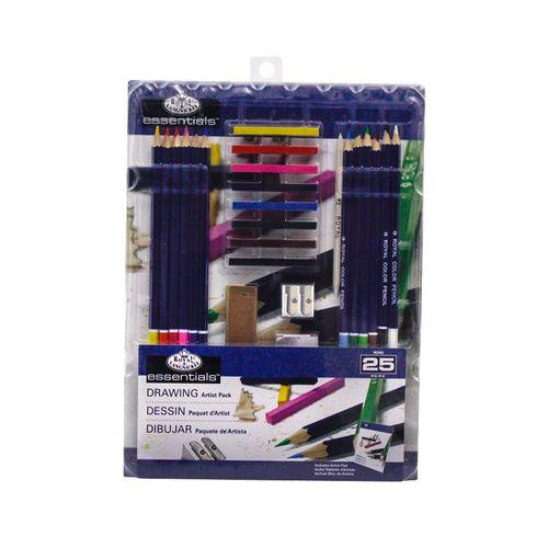 Kit-Essentials-para-desenho-25-pecas-royal-e-langnickel-RD583