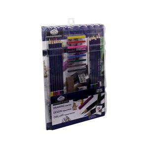 Kit-Essentials-para-desenho-25-pecas-royal-e-langnickel-RD583-1-
