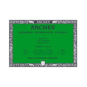 Bloco-para-Aquarela-Arches-Grano-Fino-Branco-Natural-18x26-cm-20-Folhas-300g