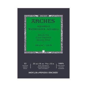 Bloco-para-Aquarela-Arches-Grao-Fino-Branco-Natural-18x-26-cm-20-Folhas-300g