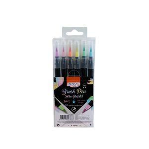 marcador-brush-pen-blister-com-6cores-pasteis-BP0004