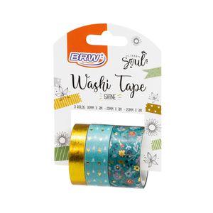 Fita-Adesiva-Washi-tape-Shine-verde-WT0400