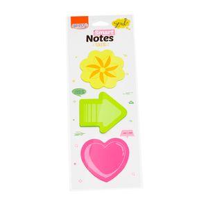 Bloco-Smart-Notes-tokens-70x70mm-flor-seta-coracao-25folhas-3blocos-BA0302-2