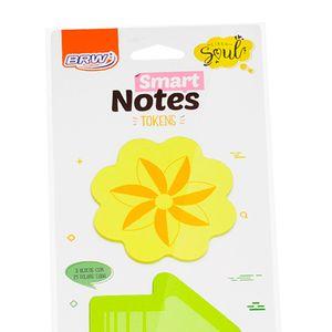 Bloco-Smart-Notes-tokens-70x70mm-flor-seta-coracao-25folhas-3blocos-BA0302-3