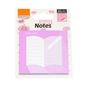 Bloco-Smart-Notes-Frames-2em1-75x75mm-livro-lilas-30folhas-BA0900-2