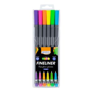 Canetinha-Hidrograica-fineliner-04mm-cor-neon-Blister-com-6cores-FI0029
