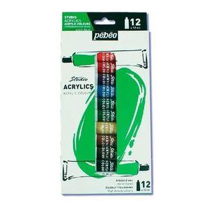 Estojo-de-Tinta-Acrilica-Pebeo-Tubo-com-12-ml-Studio-Acrylics-12Cores–13217