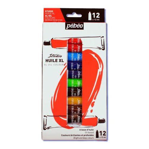 Estojo-de-Tinta-Oleo-Pebeo-Tubo-com-12-ml-Studio-XL-Oil-Colours-com-12Cores–13640