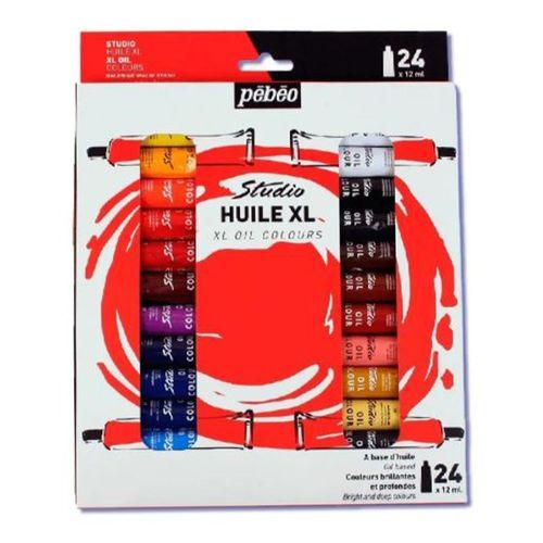 Estojo-de-Tinta-oleo-Pebeo-Tubo-com-12ml-Studio-XL-Oil-Colours-com-24cores-668620