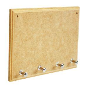 Porta-Chaves-Retangular-com-4-Pinos-de-MDF-Madeira-Crua-Tamanho-20x14x05cm-b