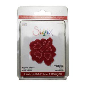Faca-de-Corte-Sizzix-Embosslits-Die-Flower-Hibiscus-654824-2