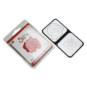 Faca-de-Corte-Sizzix-Embosslits-Die-Flower-Hibiscus-654824-1
