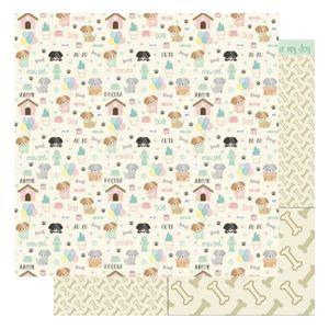 Pagina-para-Scrapbook-Dupla-Face-Litoarte-305-x-305-cm-Modelo-SD-1171-Amo-meu-Pet-Dog