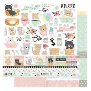 Pagina-para-Scrapbook-Dupla-Face-Litoarte-305-x-305-cm-Modelo-SD-1172-Amo-meu-Pet-Cat