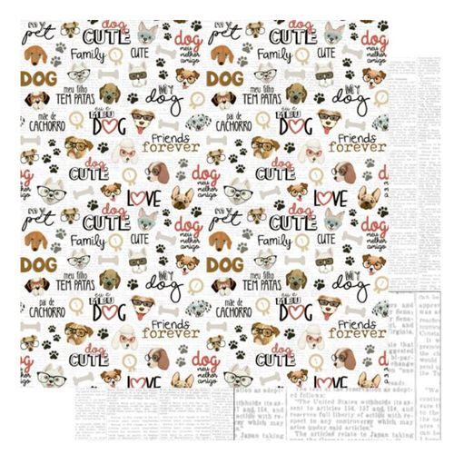 Pagina-para-Scrapbook-Dupla-Face-Litoarte-305-x-305-cm-Modelo-SD-1174-Amo-meu-Pet-Dog