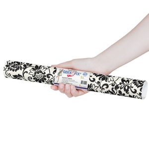 Plastico-Adesivo-Gekkofix-arabesco-branco-preto-45-cmx200cm–10247BR-1