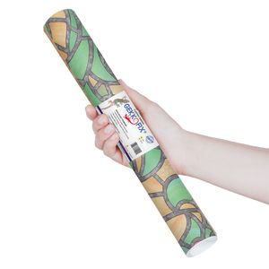 Plastico-Adesivo-Gekkofix-catedral1-Verde-45-cmx200cm–10002BR