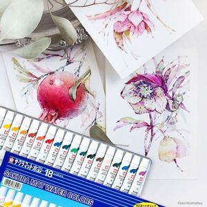 Tinta-Aquarela-Mat-Water-Colors-Sakura-com-18-cores-EMW-18-2