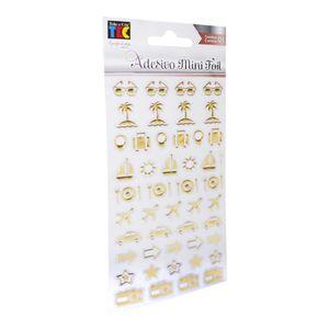 Adesivo-Mini-Foil-Toke-e-Crie-206x90mm-Dourado-Viagem-20955-AD1930
