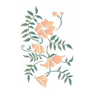 Stencil-de-Acetato-para-Pintura-OPA-20x25cm-2634-Ramo-Floral