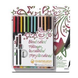 Kit-com-12unid-Fineliners-artisticas-0-3mm-designer-colors-FL1202-178982