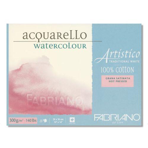 Bloco-Aquarello-Watercolour-Grana-Satinata-Fabriano-Traditional-White-26x36cm-300g-20-Folhas–19100561