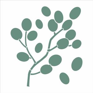 3123---305x305-Simples---Organico-Folhas-Bolinhas