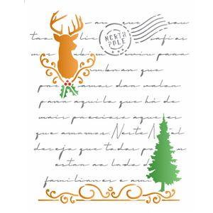 stencil-3145-20x25-Simples-Carta-Natalina-I