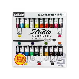 Estojo-de-Tinta-Acrilica-Pebeo-20-Tubos-Com-20ml-com-1-Pincel-833431-2