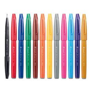 Kit-Brush-Sign-Pen-Pentel-Cores-Tradicionais–KITBRUSH–12T