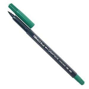 Caneta-Aquarelavel-Fibralo-Brush-Caran-dAche-Verde-Escuro-460